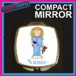 NURSE PERSONALISED WITH NAME COMPACT LADIES METAL HANDBAG GIFT MIRROR - 160903708683